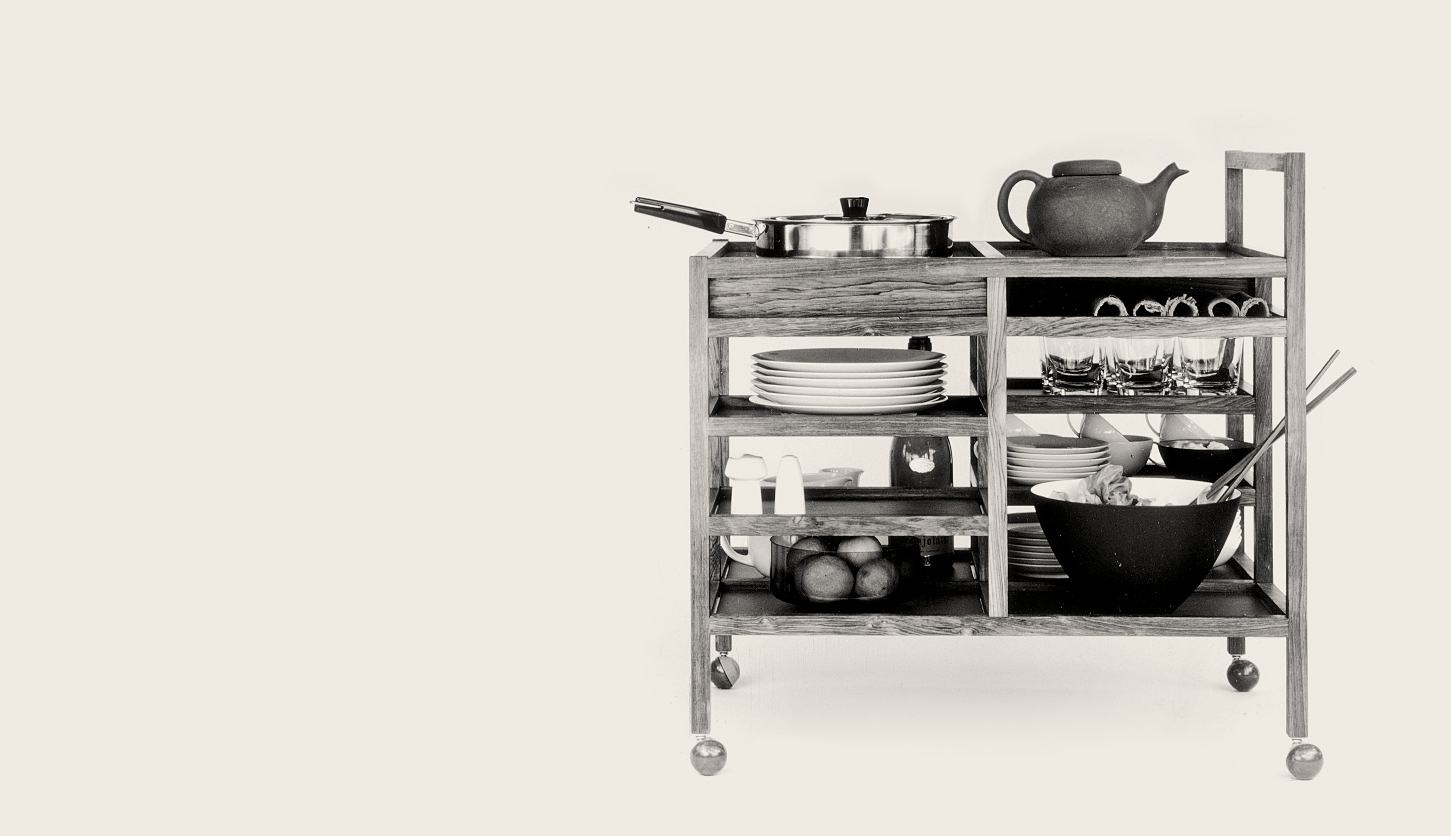Serving cart and nest of tables
